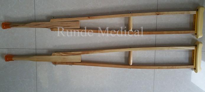 wooden crutch